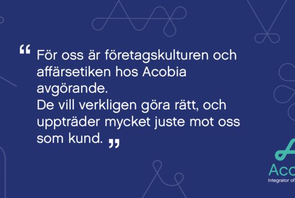 Acobia tar Öresundsbrons data upp i molnet
